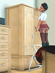 Tonight its caning time in her school uniform and she will be made to fetch the cane from the wardrobe